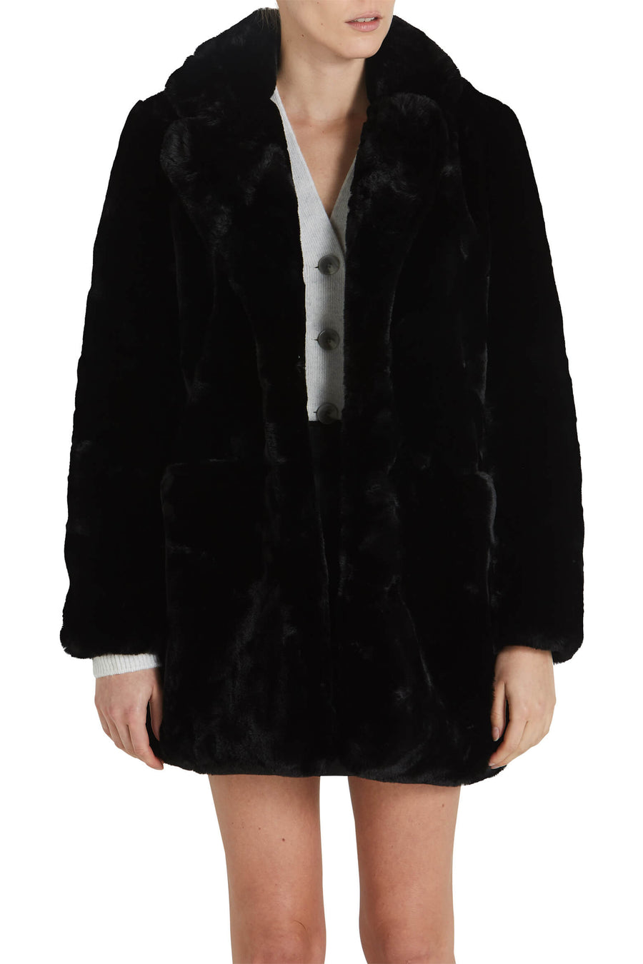 Apparis Sophie Coat in Black from The New Trend