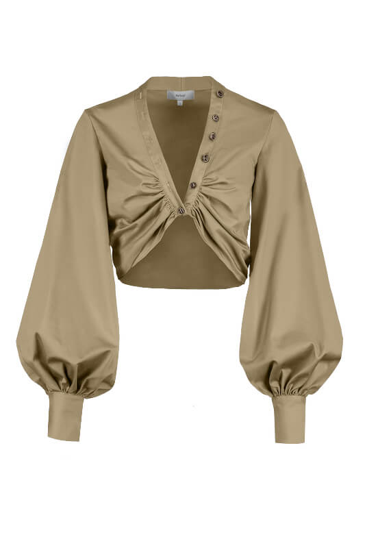 Auteur Harri Top in Taupe from The New Trend