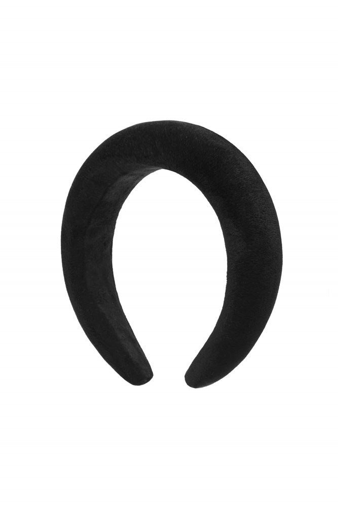 Avenue Elk Headband in Black Velvet from The New Trend