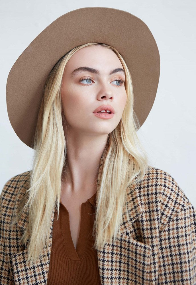 Avenue Harriet Fedora in Caramel Wool from The New Trend