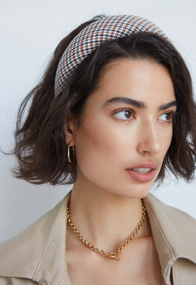 Avenue Theodore Headband in Houndstooth from The New Trend