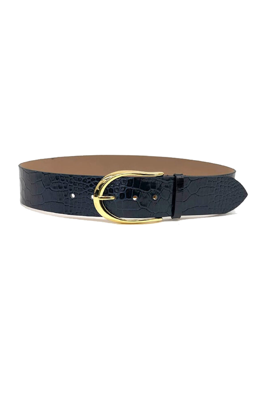 B-Low The Belt Erin Waist Croco Belt in Black from The New Trend