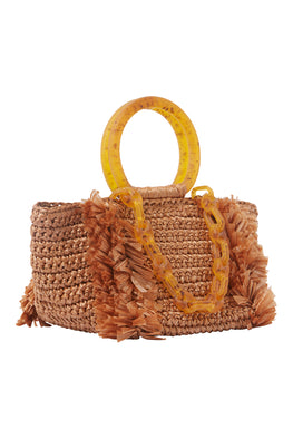 COROLLINA RAFIA BAG WITH HANDLE