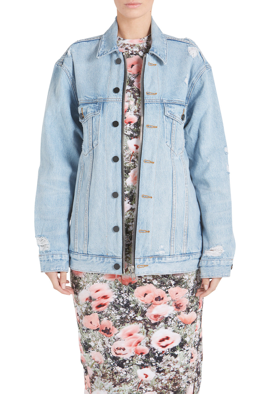 DAZE ZIP - BLEACH DENIM JACKET