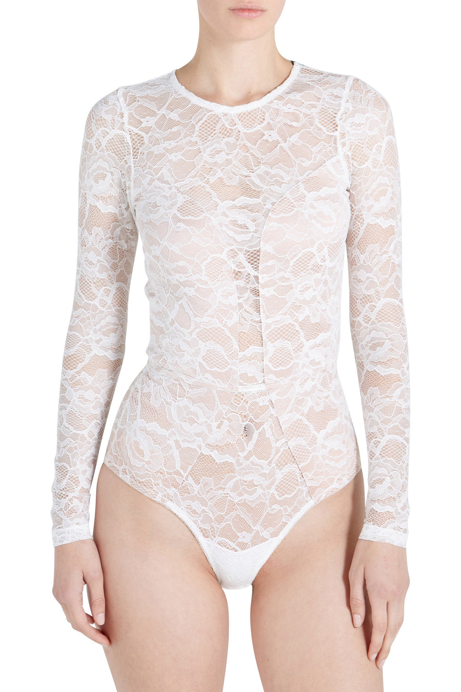 CHAT NOIR LACE LS BDYSUIT