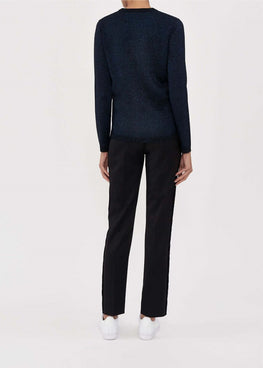 Bella Freud Diamonds Are Forever Sparkle Jumper in Navy from The New Trend