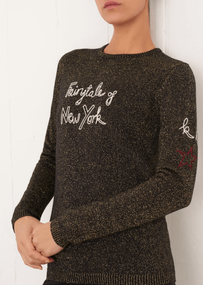 Bella Freud Fairytale Of New York Jumper in gold from The New Trend