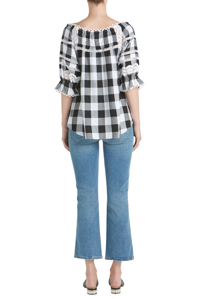 AMALIA BUFFALO PLAID BLOUSE