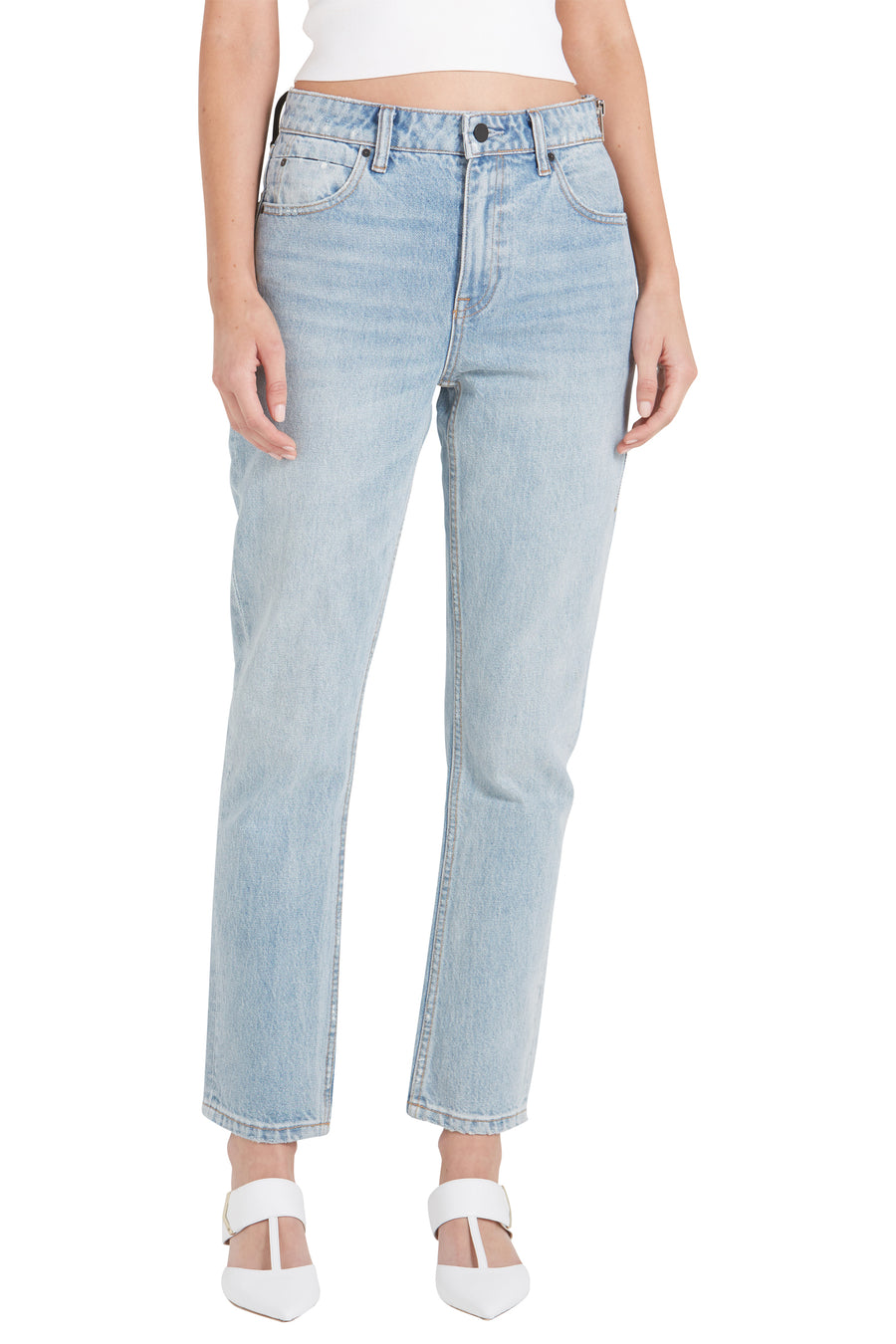 CULT SIDE ZIP - BLEACH DENIM JEANS