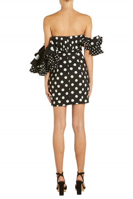Caroline Constas Ruffle Shoulder Mini Dress from The New Trend