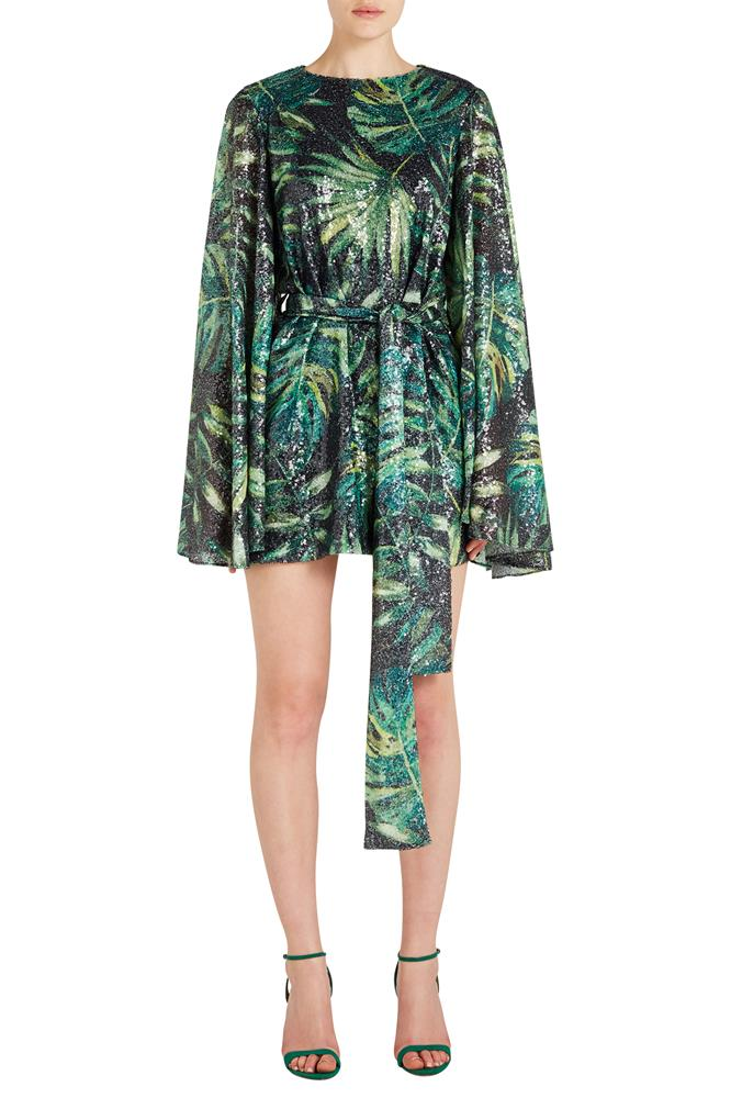ANYA LEAF PRINT DRESS