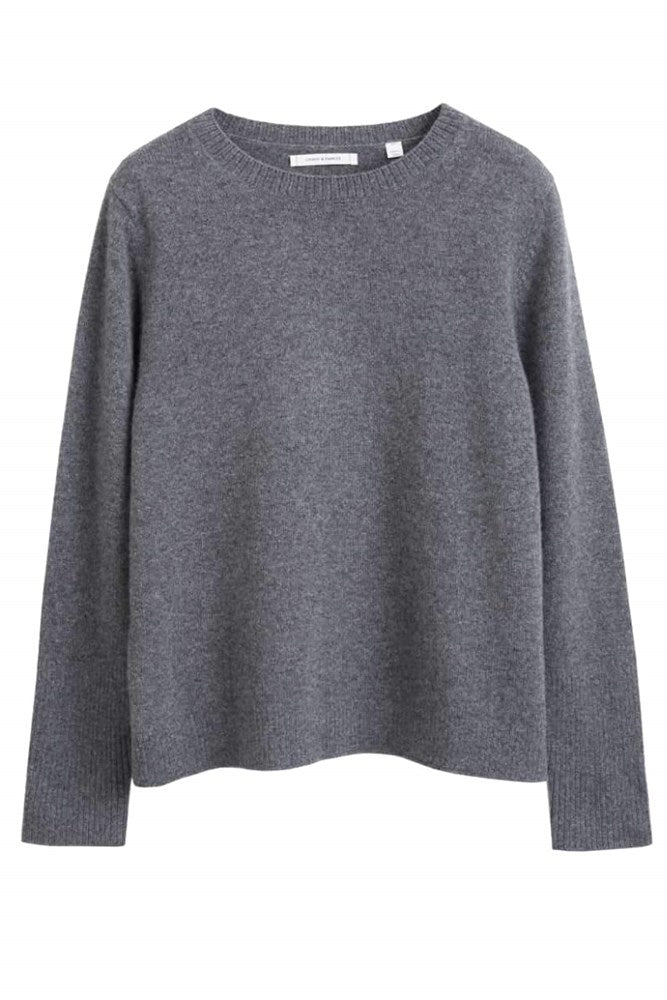 Chinti & Parker The Boxy Cashmere Sweater in Heather Grey from The New Trend