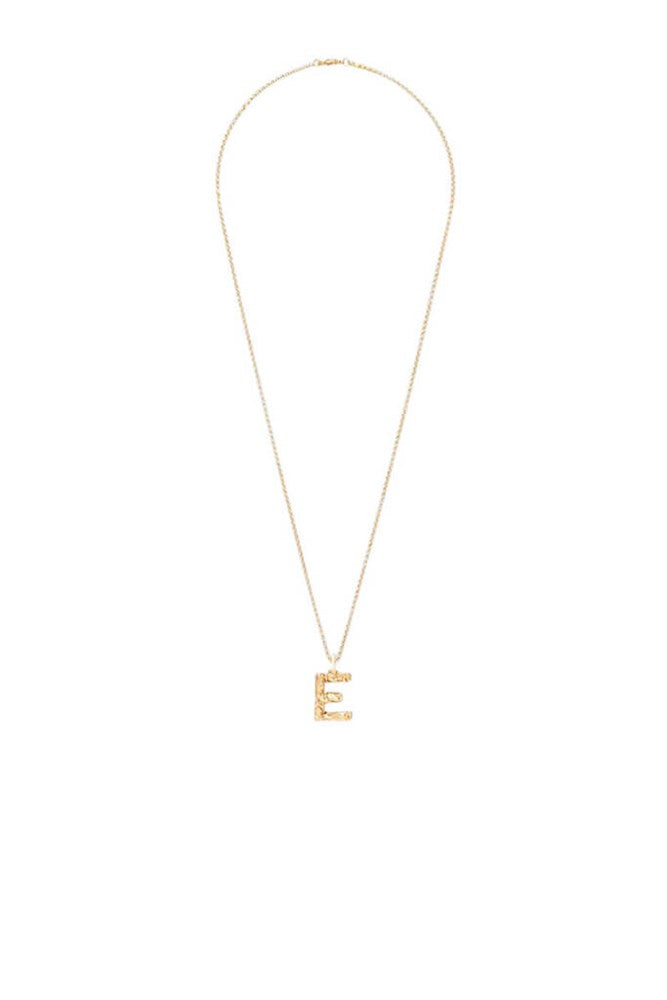 Chloe Alphabet Necklace E in Gold from The New Trend