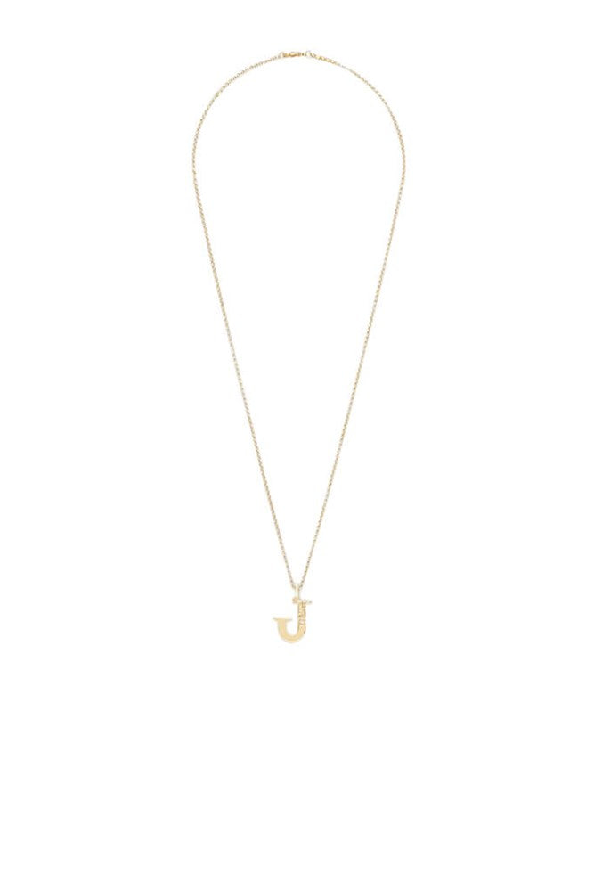 Chloe Alphabet Necklace J in Gold from The New Trend