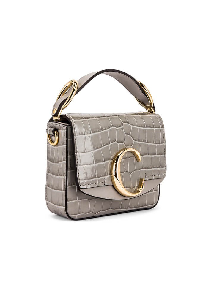 Chloe C Mini Square Bag in Stormy Grey from The New Trend
