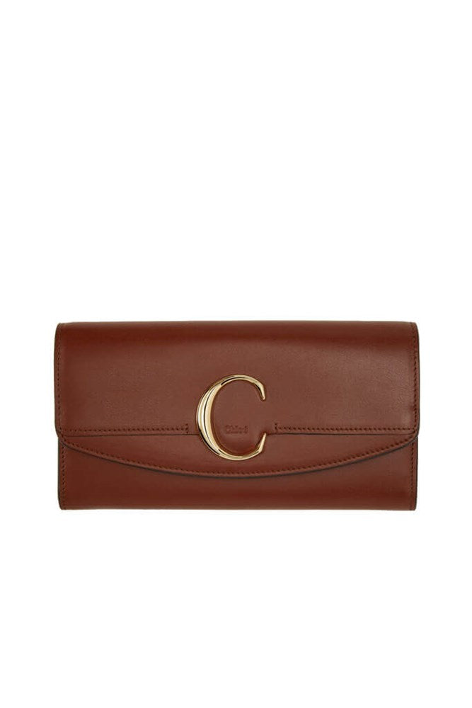 Chloé C Long Wallet in Sepia Brown from The New Trend