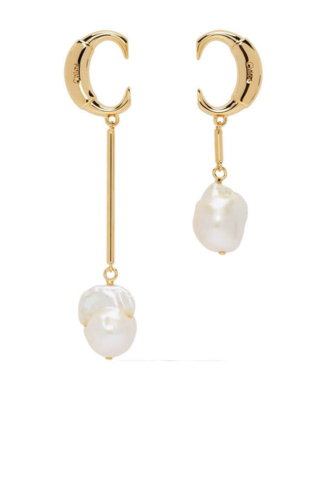 Chloe C Pearl Earrings in Gold from The New Trend