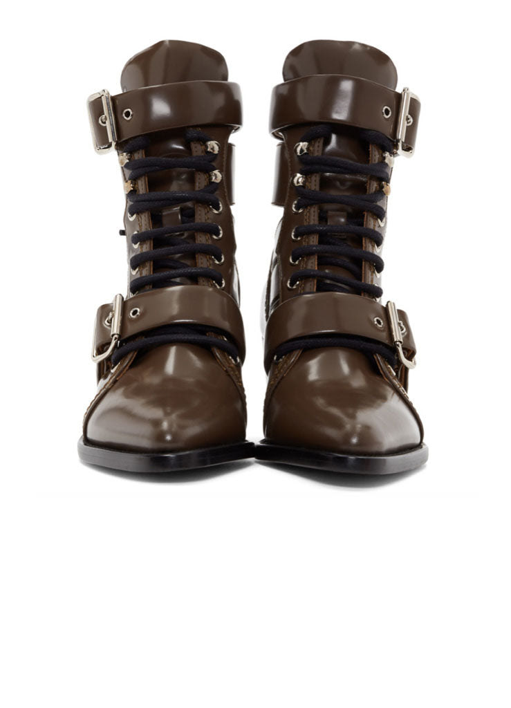 LACED LEATHER BOOT