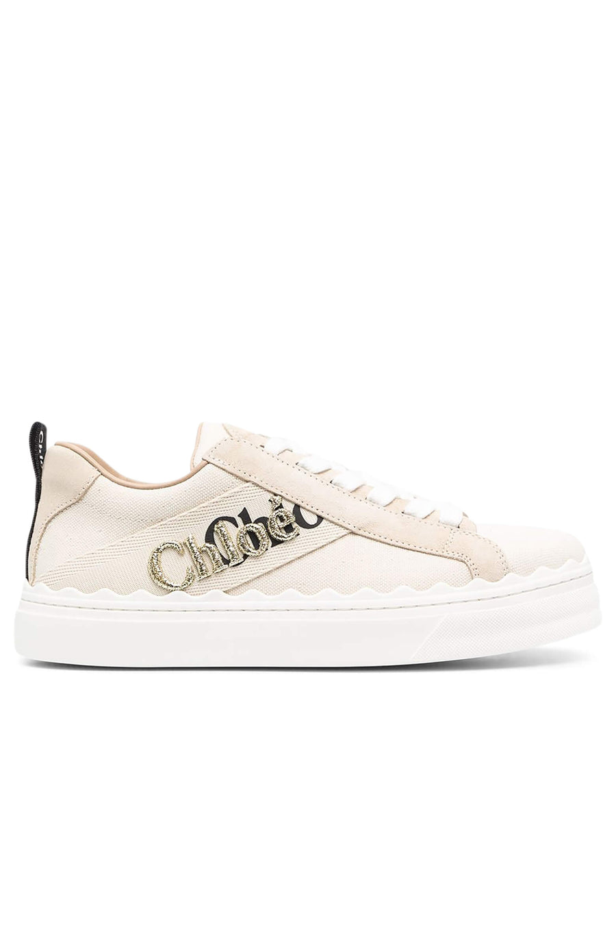 Chloe Lauren Sneaker with Embroidery in White from The New Trend