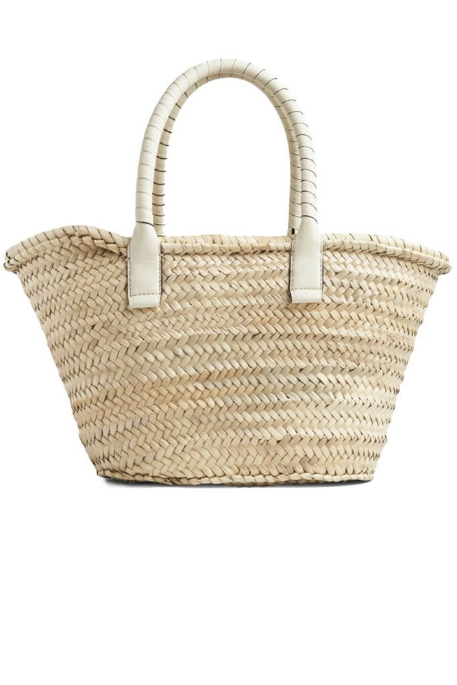 Chloe Marcie Basket Bag in Natural White from The New Trend