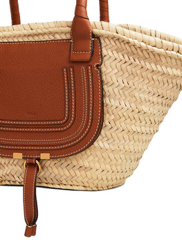 Chloe Marcie Basket Bag in Tan from The New Trend