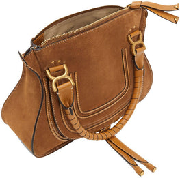 Chloé Marcie Medium Double Carry Bag in Autumnal Brown from The New Trend