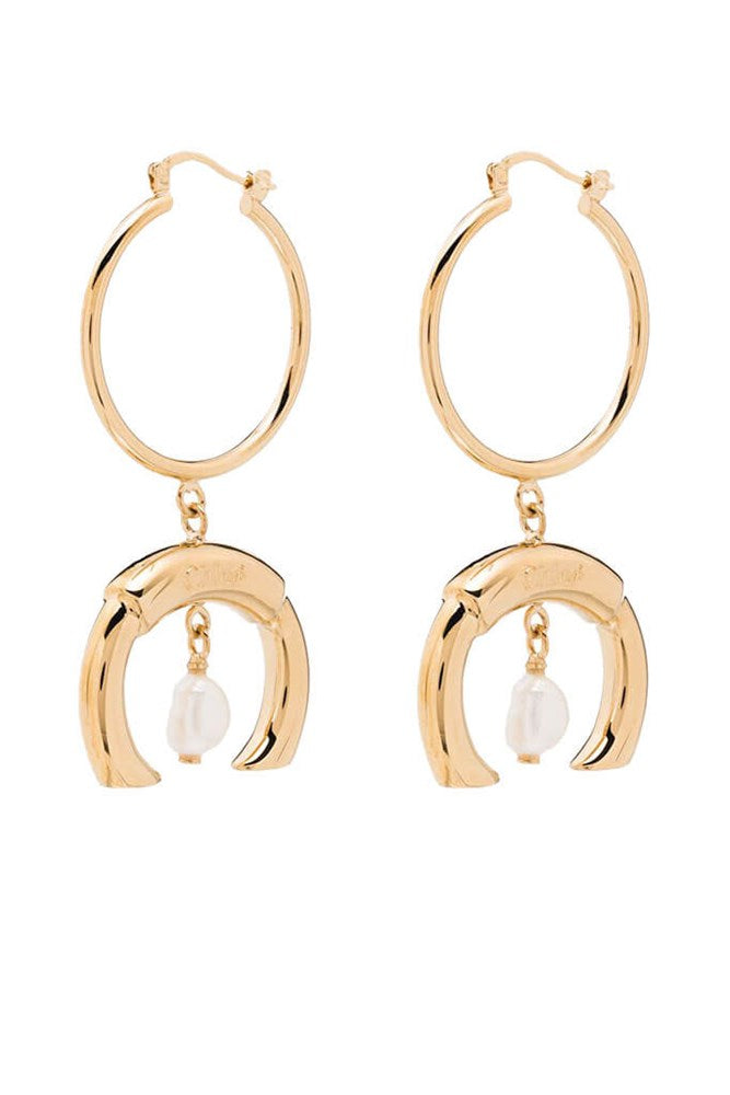 Chloe Pearl Earrings in Gold from The New Trend
