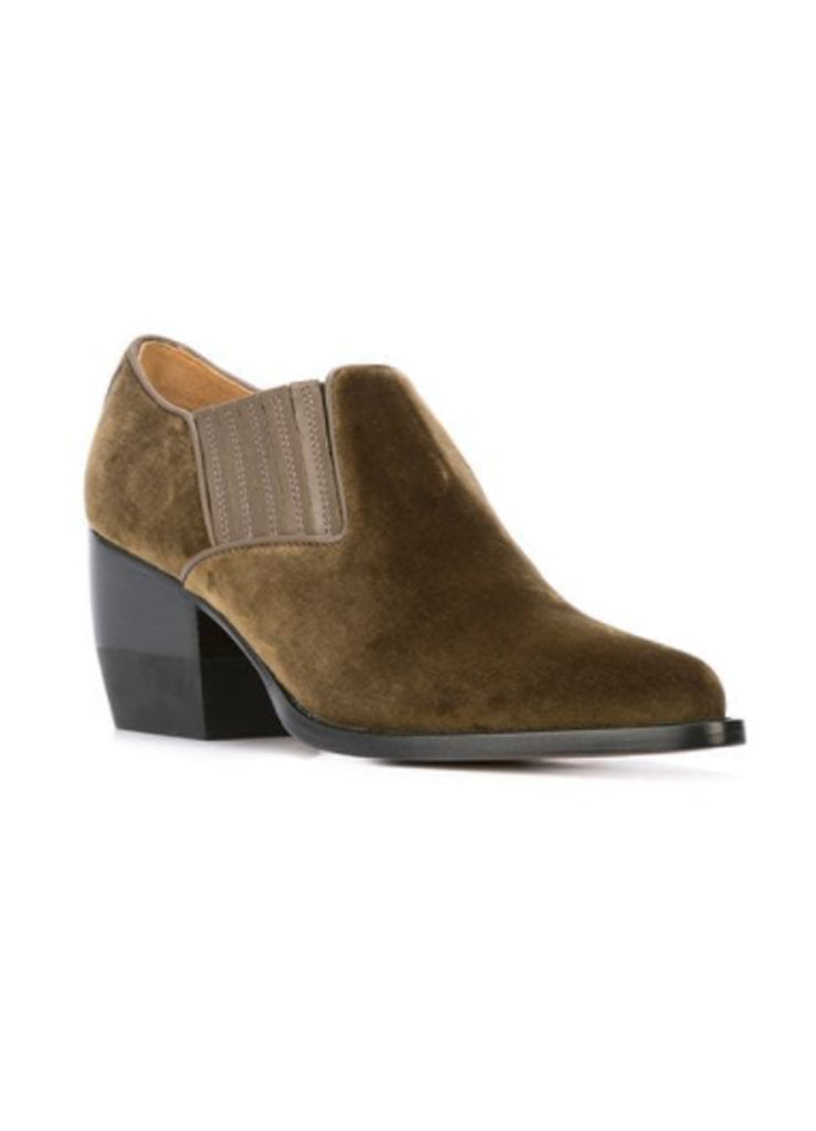 SUEDE BLOCK HEEL BOOT