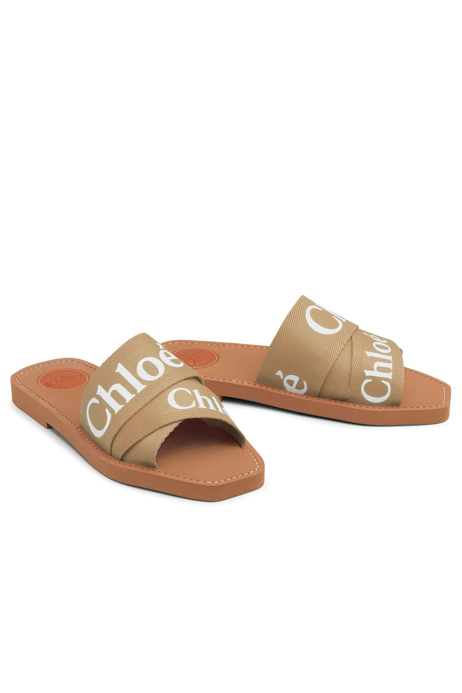 Chloe Woody Slide in Soft Tan from The New Trend