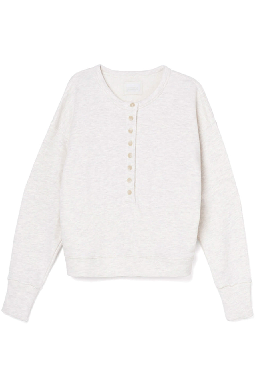 Citizens Of Humanity Cora Henley Sweatshirt in Oatmeal Heather from The New Trend