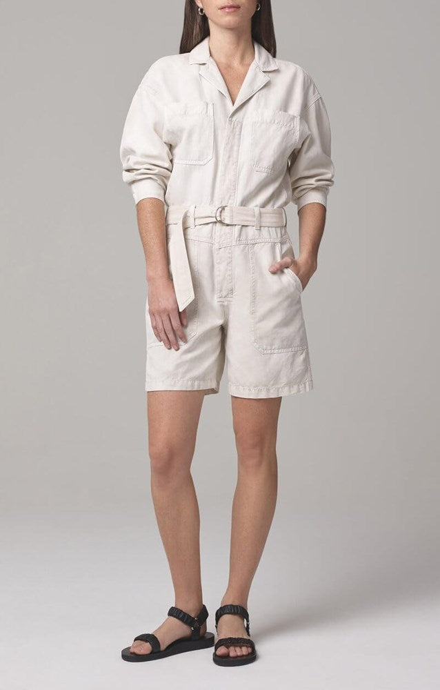 Citizens of Humanity Willa Utility Romper in Sand Castle from The New Trend