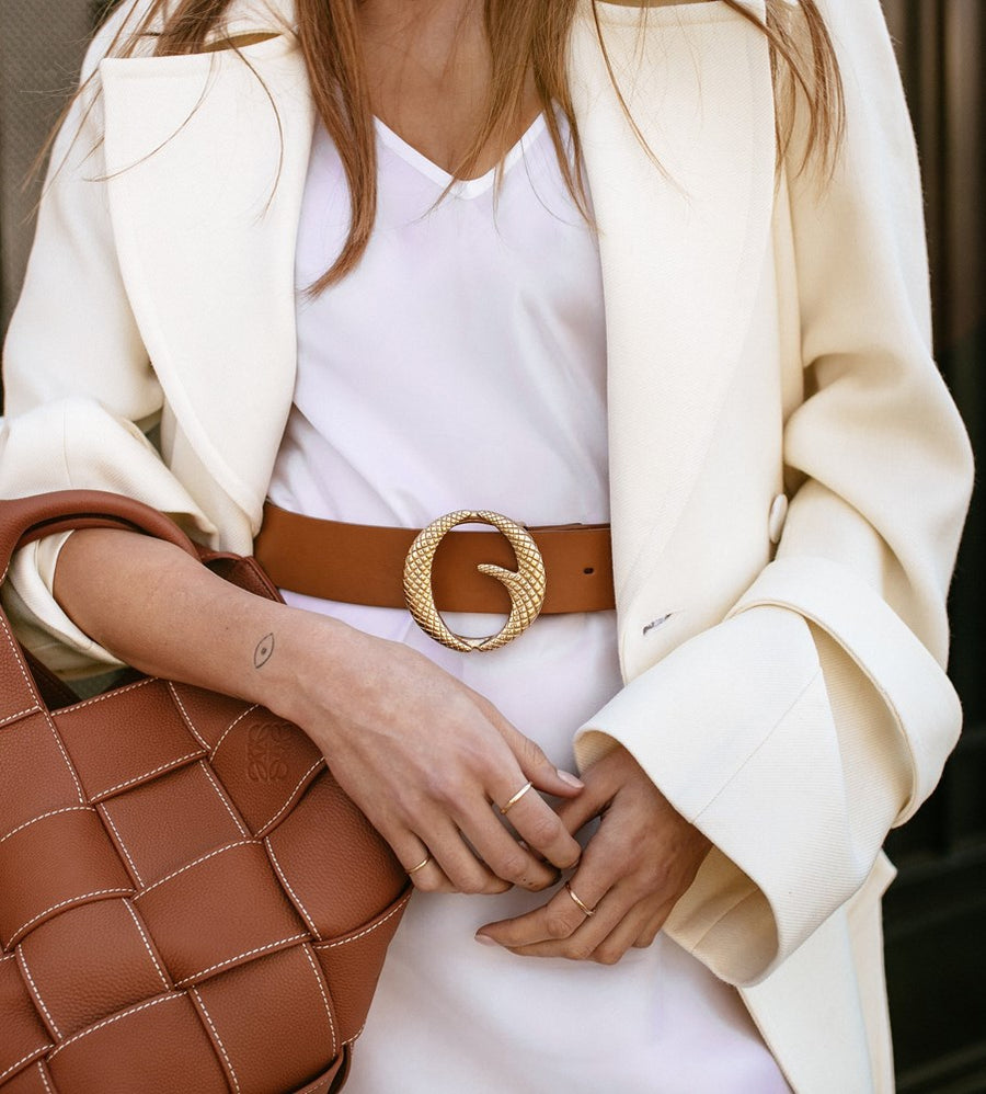 Clinch Belts Belt Strap in Light Tan from The New Trend