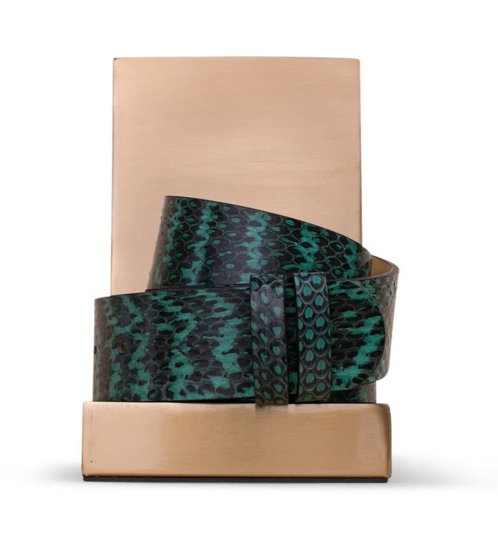 Clinch Belts Belt Strap in Emerald Snake from The New Trend