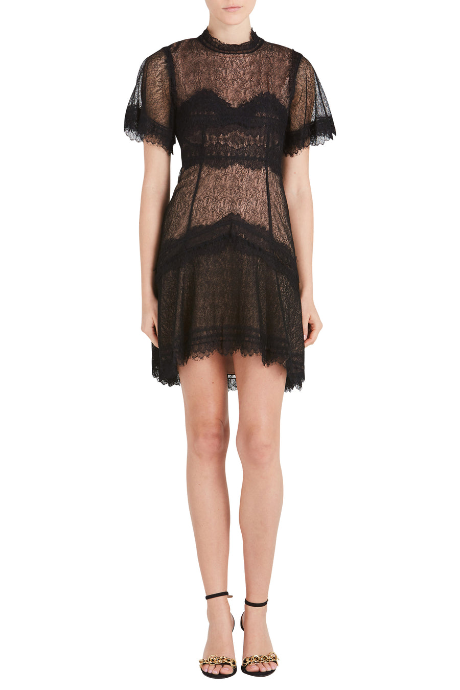 LINGERIE LACE MINI DRESS