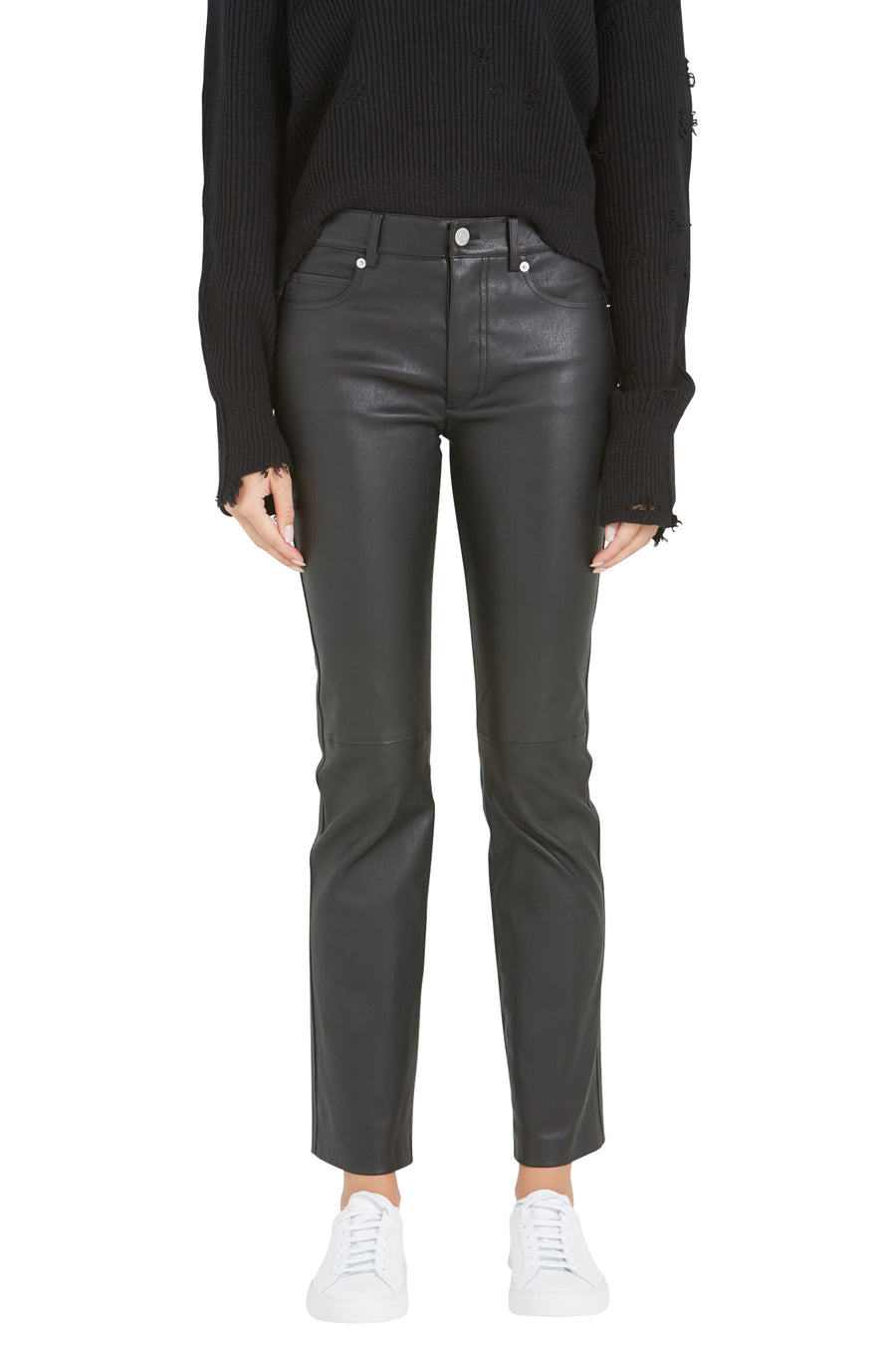 FIVE POCKET LEATHER PANT