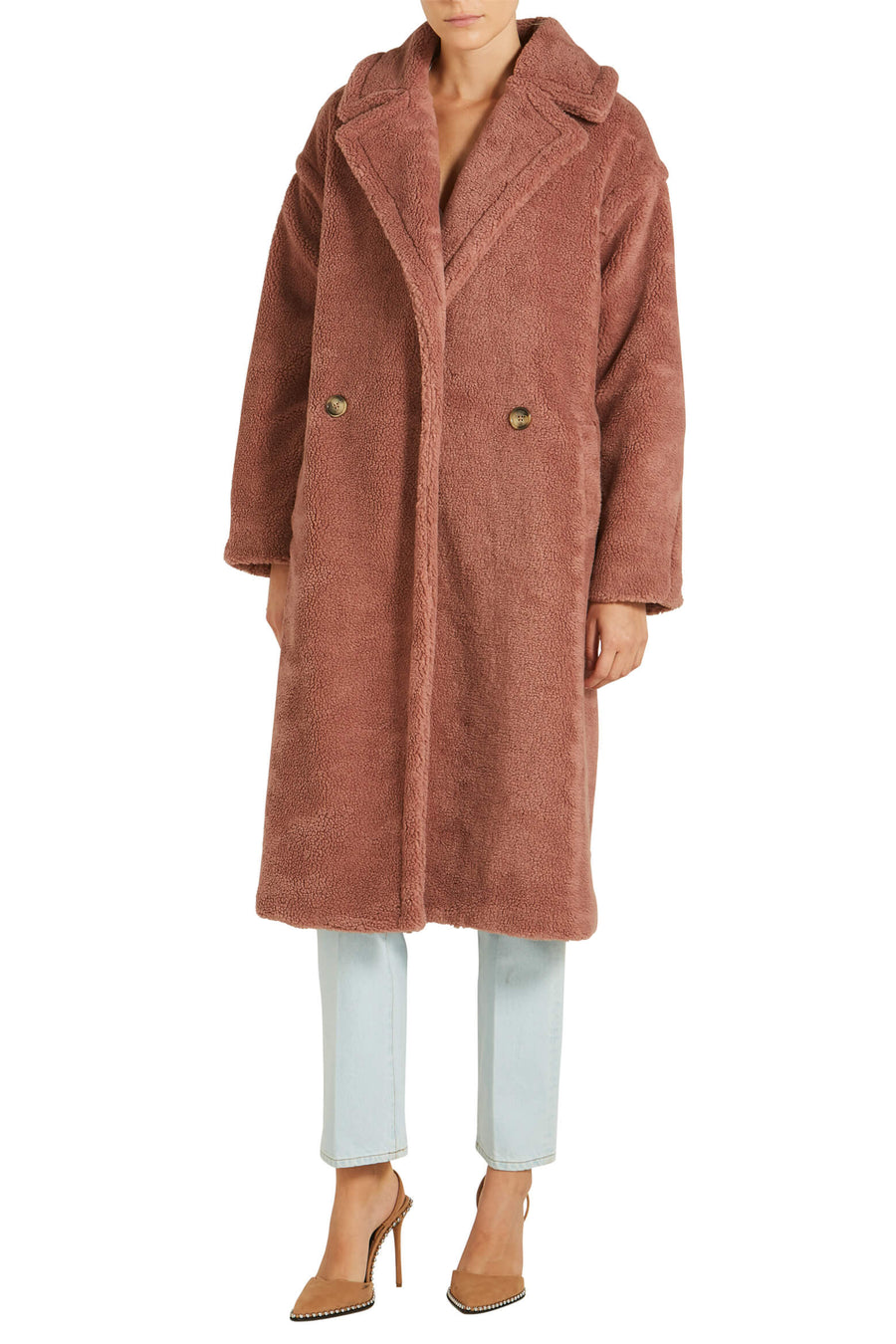 Ducie London Teddy Coat Rose from The New Trend