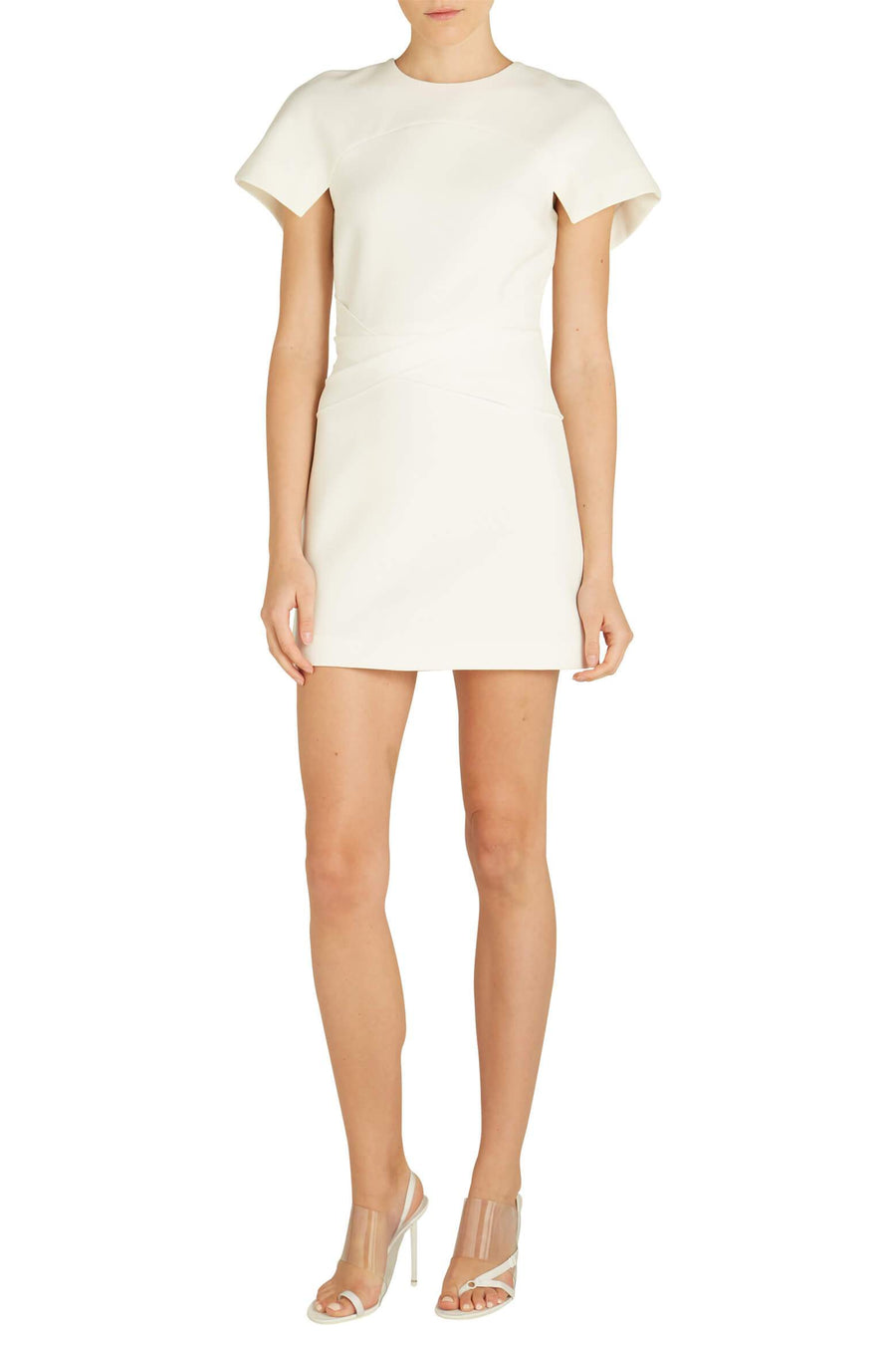 Concave Crepe Mini Dress in white from The New Trend