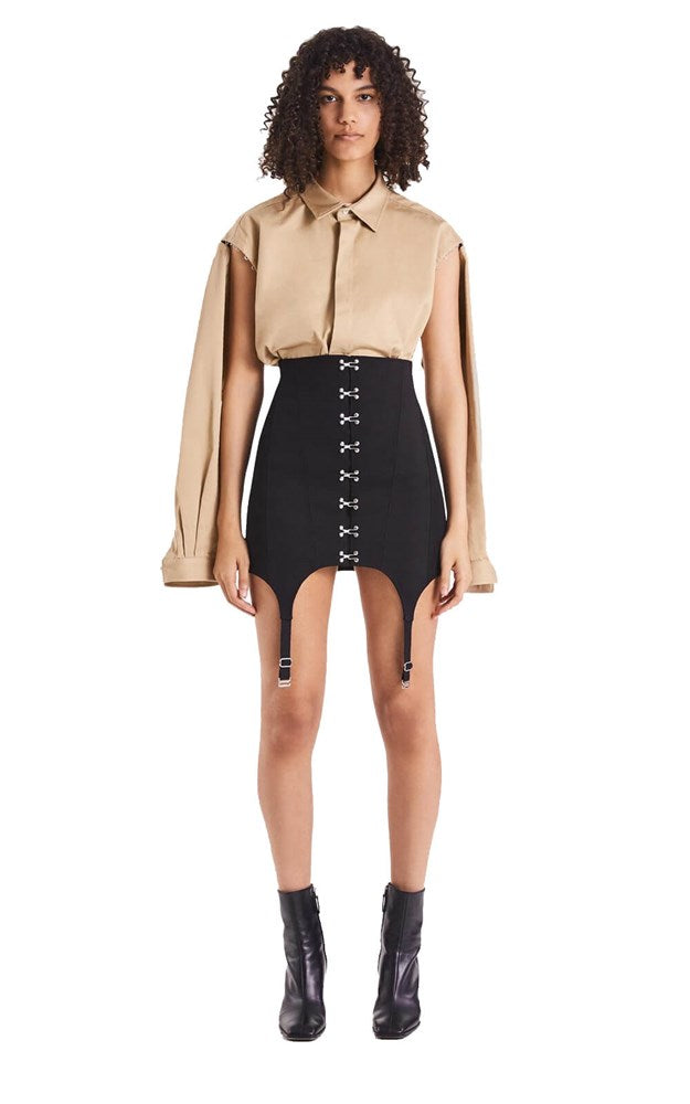 Dion Lee Corset Garter Skirt in Black from The New Trend