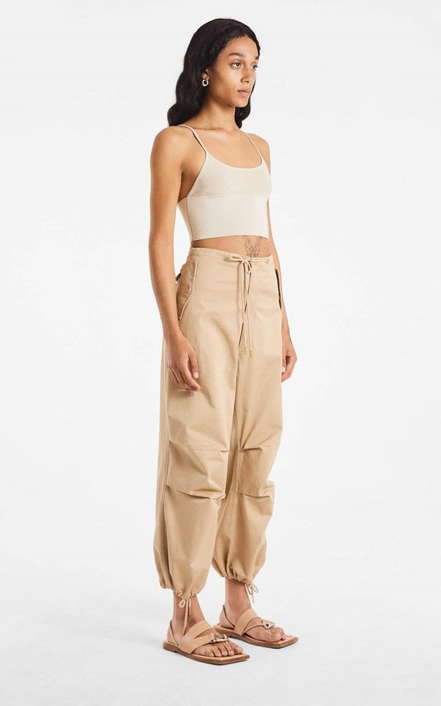 Dion Lee Cotton Parachute Pant in Beige from The New Trend