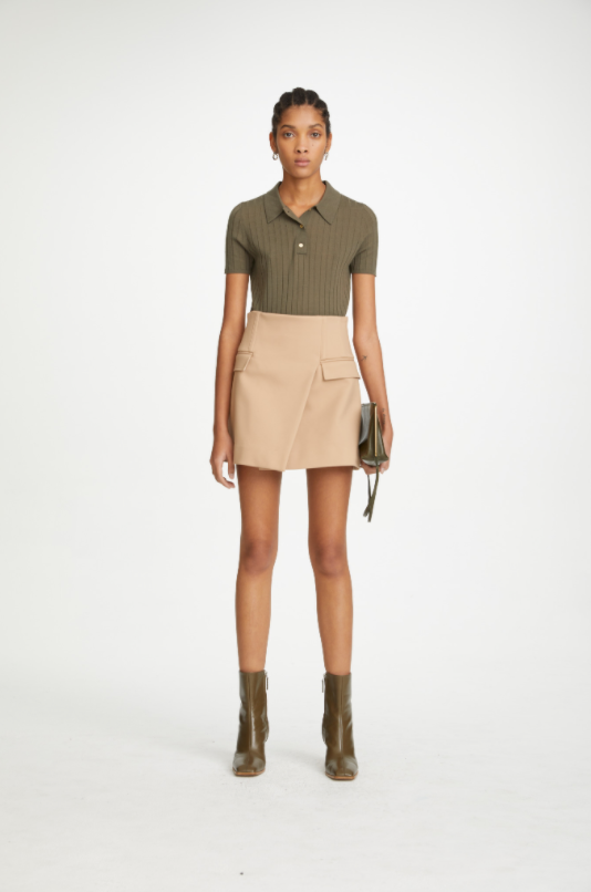 Dion Lee Frame Mini Skirt in Camel from The New Trend