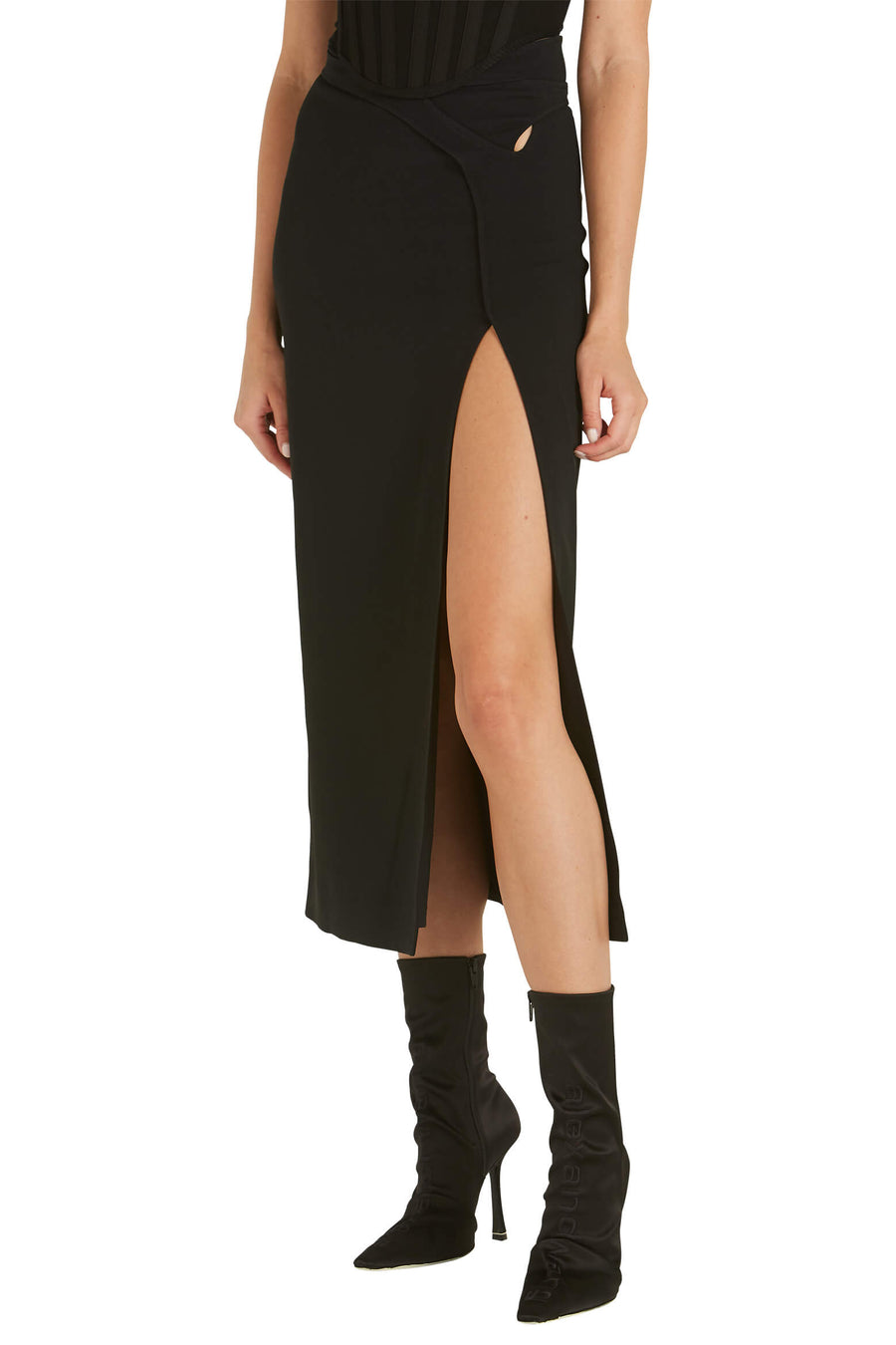 Dion Lee Interlock Skirt in Black from The New Trend