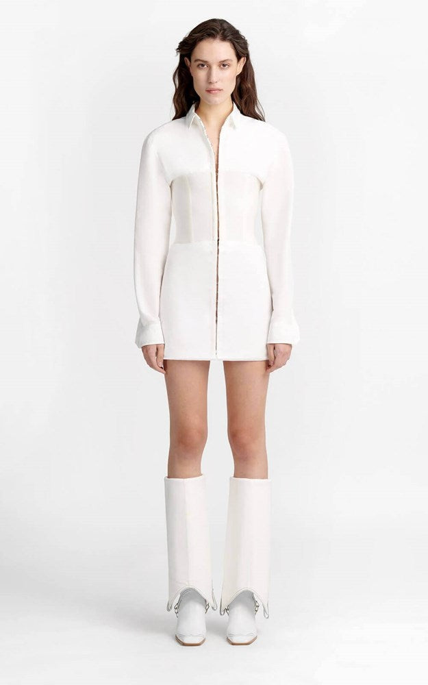 Dion Lee Cotton Grosgrain Hook Tube Shirt in Ivory from The New Trend