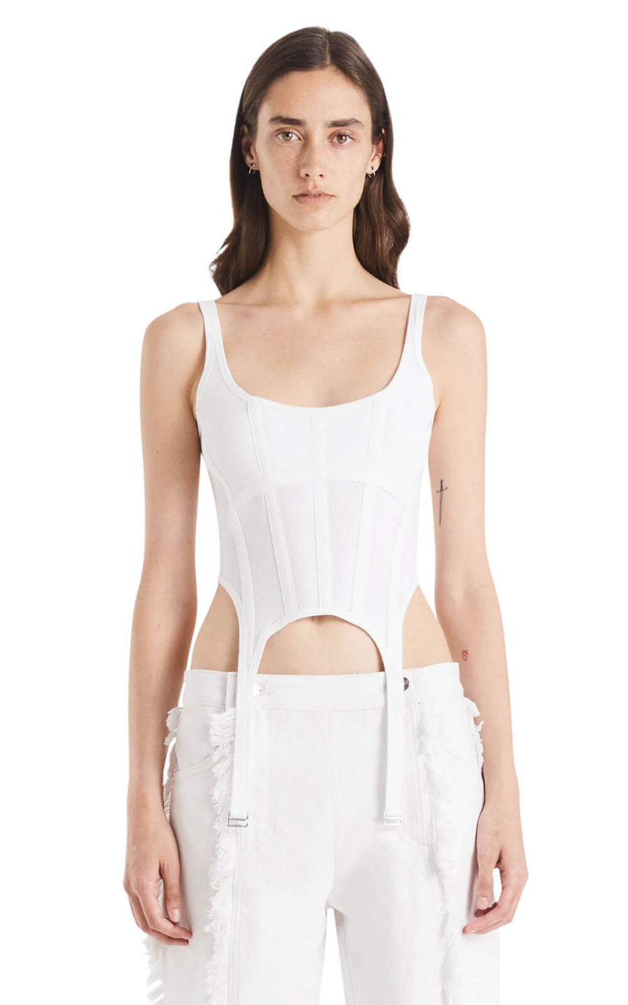 Dion Lee Women's Rib Combat Corset Ivory from The New Trend