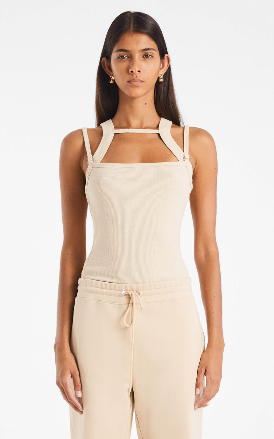 Dion Lee Women's Rib Holster Tank Top Sand from The New Trend