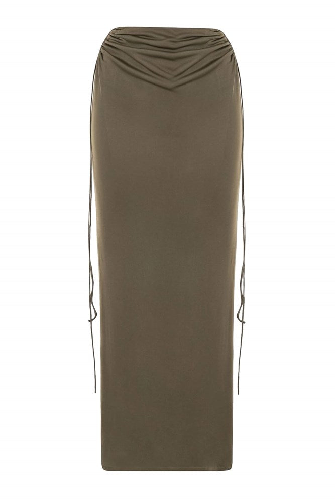 Dion Lee Wire Jersey Skirt in Slate Green from The New Trend