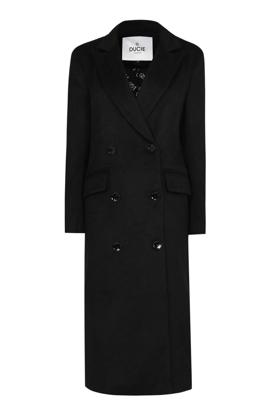 Ducie London Aggie Oversize Wool Coat in Black from The New Trend