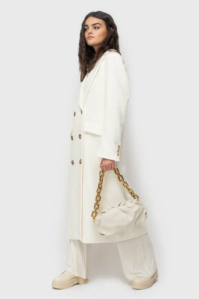 Ducie London Oversize Wool Coat in Cream from The New Trend