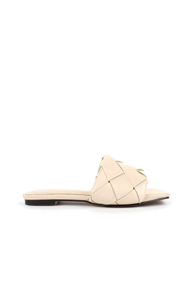 Ducie London Amalia Weave Slide in Stone from The New Trend