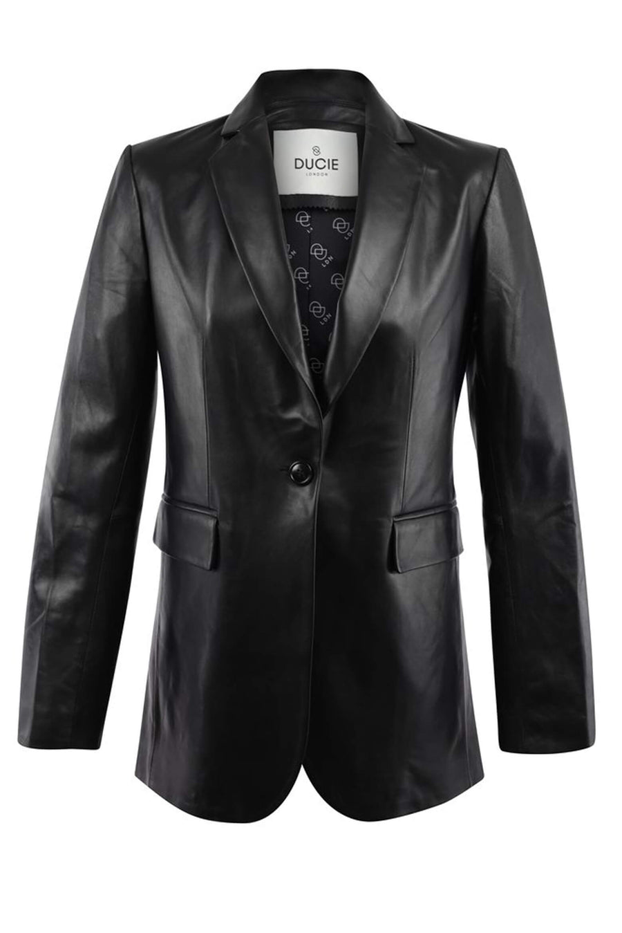 Ducie London Charlie Leather Suit Jacket in Black from The New Trend
