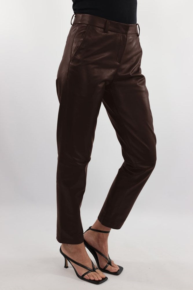 Ducie London Dakota Leather Pant in Chocolate from The New Trend